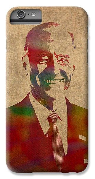 Joe Biden Watercolor Portrait IPhone 6s Plus Case by Design Turnpike