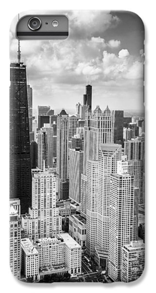 Hancock Building iPhone 6s Plus Case - John Hancock Building In The Gold Coast Black And White by Adam Romanowicz