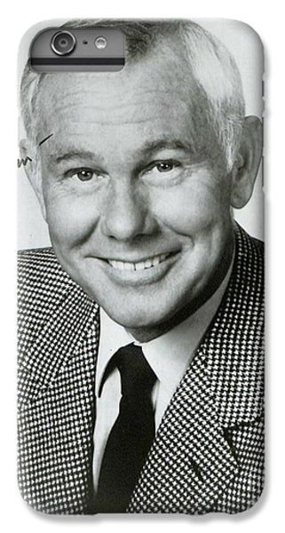 Johnny Carson iPhone 6s Plus Case - Johnny Carson Autographed Print by Pd
