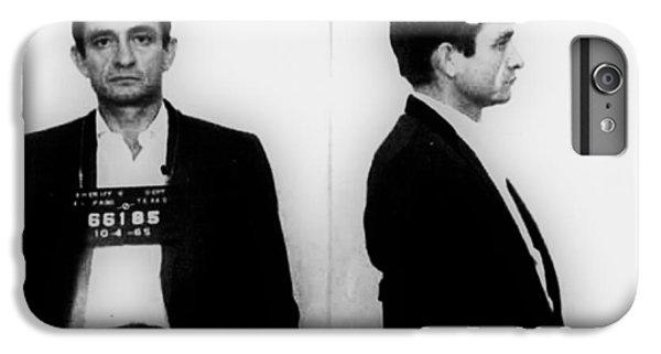 Johnny Cash iPhone 6s Plus Case - Johnny Cash Mug Shot Horizontal by Tony Rubino