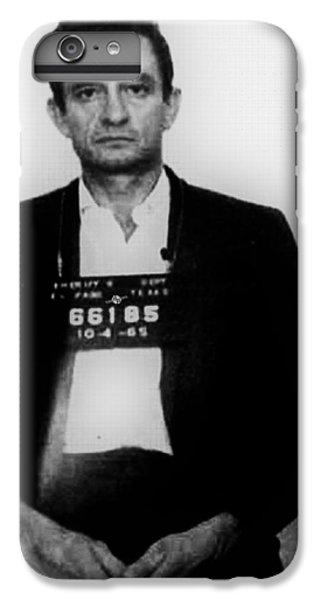 Johnny Cash iPhone 6s Plus Case - Johnny Cash Mug Shot Vertical by Tony Rubino