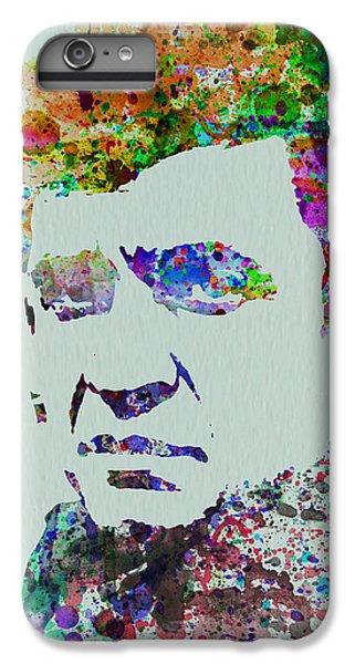 Johnny Cash iPhone 6s Plus Case - Johnny Cash Watercolor 2 by Naxart Studio