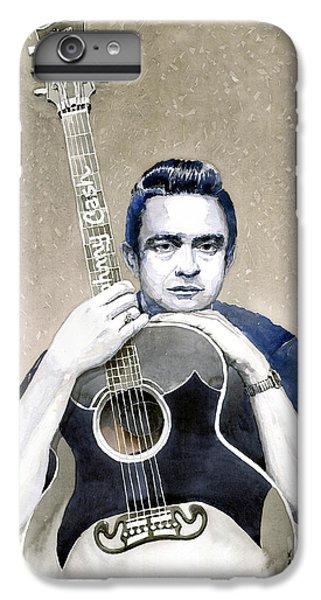 Johnny Cash iPhone 6s Plus Case - Johnny Cash by Yuriy Shevchuk