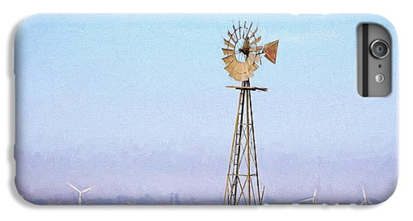 IPhone 6s Plus Case featuring the digital art Kansas Windmills by JC Findley