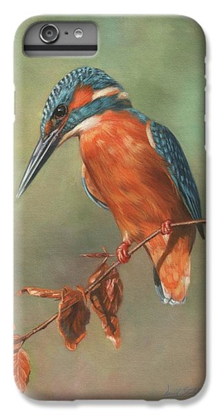 Kingfisher iPhone 6s Plus Case - Kingfisher Perched by David Stribbling