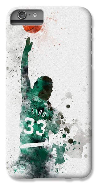 Larry Bird IPhone 6s Plus Case by Rebecca Jenkins