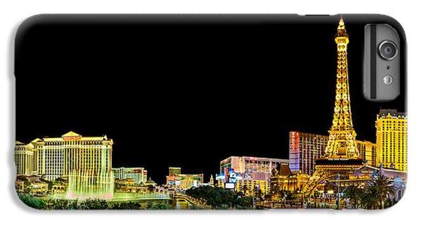 Eiffel Tower iPhone 6s Plus Case - Las Vegas At Night by Az Jackson