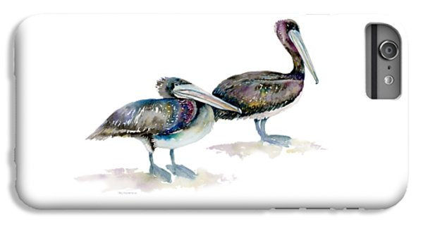 Laurel And Hardy, Brown Pelicans IPhone 6s Plus Case by Amy Kirkpatrick