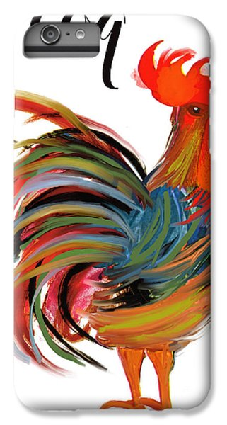 Rooster iPhone 6s Plus Case - Le Coq Art Nouveau Rooster by Mindy Sommers
