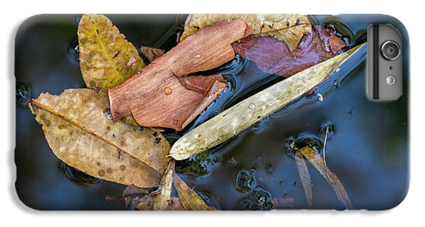 IPhone 6s Plus Case featuring the photograph Leaf Litter In Pond, Navegaon, 2011 by Hitendra SINKAR