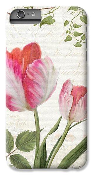 Les Magnifiques Fleurs I - Magnificent Garden Flowers Parrot Tulips N Indigo Bunting Songbird IPhone 6s Plus Case