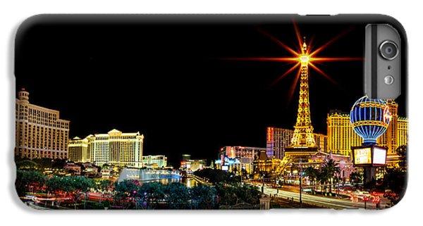 Eiffel Tower iPhone 6s Plus Case - Lighting Up Vegas by Az Jackson