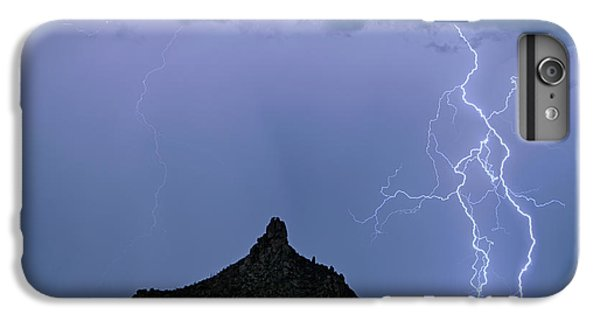 IPhone 6s Plus Case featuring the photograph Lightning Bolts And Pinnacle Peak North Scottsdale Arizona by James BO Insogna