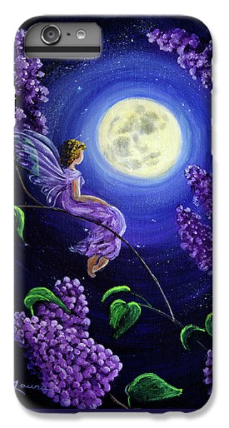 Flower Fairy iPhone 6s Plus Case - Lilac Fairy Bathed In Moonlight by Laura Iverson