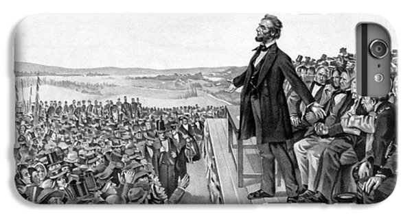 Abraham Lincoln iPhone 6s Plus Case - Lincoln Delivering The Gettysburg Address by War Is Hell Store