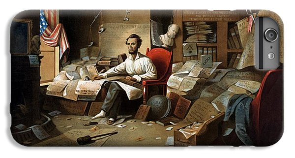 Lincoln Writing The Emancipation Proclamation IPhone 6s Plus Case by War Is Hell Store