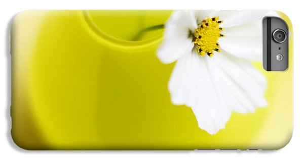 Flowers iPhone 6s Plus Case - Little Yellow Vase by Rebecca Cozart