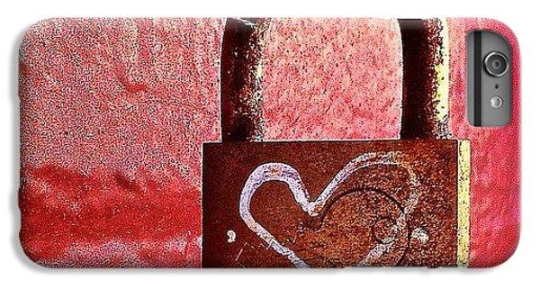 Lock/heart IPhone 6s Plus Case by Julie Gebhardt