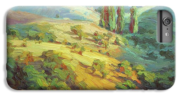 Impressionism iPhone 6s Plus Case - Lombardy Homestead by Steve Henderson
