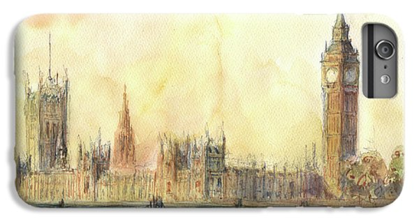 London Big Ben And Thames River IPhone 6s Plus Case by Juan Bosco