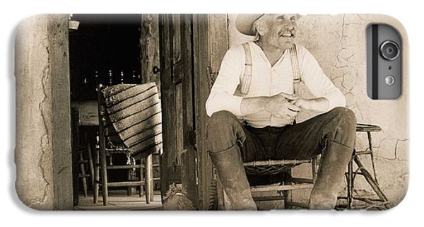 Dove iPhone 6s Plus Case - Lonesome Dove Gus On Porch  by Peter Nowell