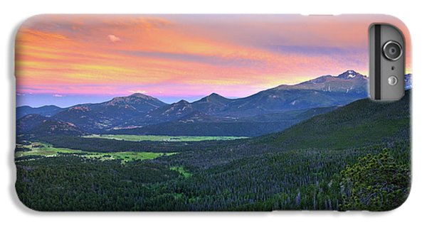 IPhone 6s Plus Case featuring the photograph Longs Peak Sunset by David Chandler