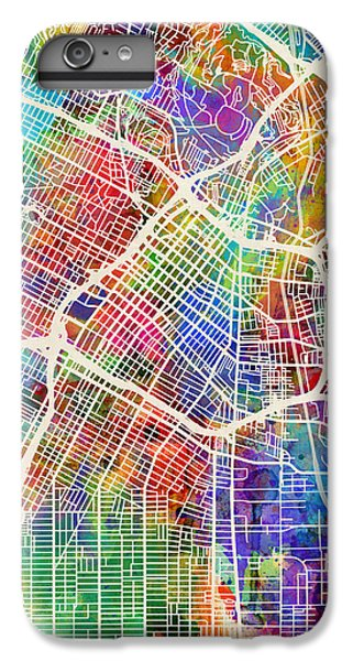 Los Angeles iPhone 6s Plus Case - Los Angeles City Street Map by Michael Tompsett