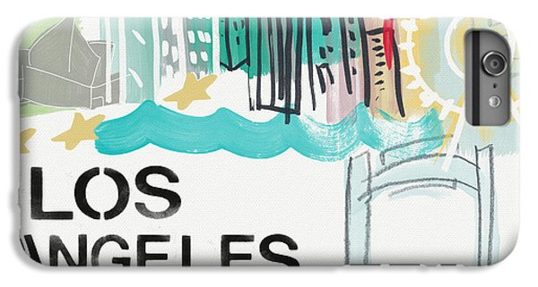 Los Angeles iPhone 6s Plus Case - Los Angeles Cityscape- Art By Linda Woods by Linda Woods