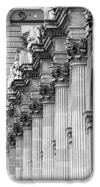 IPhone 6s Plus Case featuring the photograph Louvre Pillars, Paris, 2015 by Hitendra SINKAR