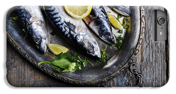 Mackerels On Silver Plate IPhone 6s Plus Case by Jelena Jovanovic