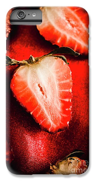 Strawberry iPhone 6s Plus Case - Macro Shot Of Ripe Strawberry by Jorgo Photography - Wall Art Gallery