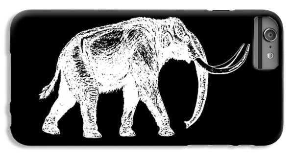 Mammoth White Ink Tee IPhone 6s Plus Case by Edward Fielding