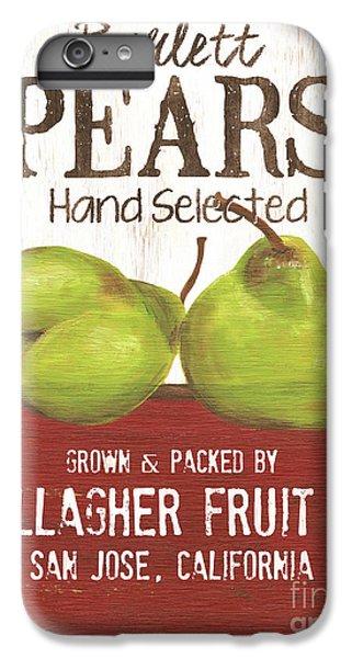 Pear iPhone 6s Plus Case - Market Fruit 1 by Debbie DeWitt
