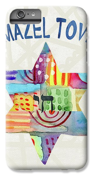 Bat iPhone 6s Plus Case - Mazel Tov Colorful Star- Art By Linda Woods by Linda Woods