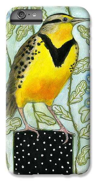 Meadowlark Black Dot Box IPhone 6s Plus Case by Blenda Tyvoll