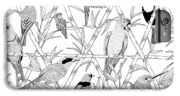 Menagerie Black And White IPhone 6s Plus Case by Jacqueline Colley