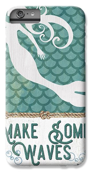 Extinct And Mythical iPhone 6s Plus Case - Mermaid Waves 1 by Debbie DeWitt