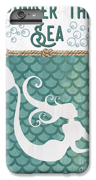 Extinct And Mythical iPhone 6s Plus Case - Mermaid Waves 2 by Debbie DeWitt