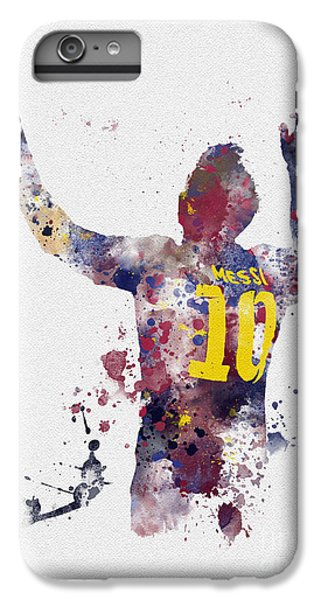 Soccer iPhone 6s Plus Case - Messi by Rebecca Jenkins