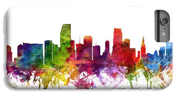 Miami Skyline iPhone 6s Plus Case - Miami Cityscape 06 by Aged Pixel