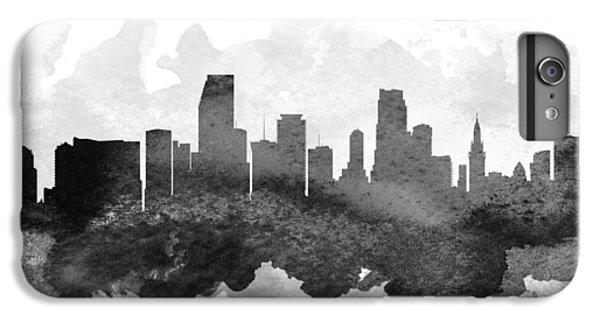 Miami Skyline iPhone 6s Plus Case - Miami Cityscape 11 by Aged Pixel