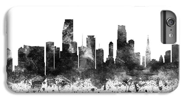 Miami Skyline iPhone 6s Plus Case - Miami Florida Cityscape 02bw by Aged Pixel