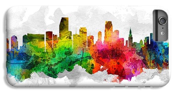 Miami Skyline iPhone 6s Plus Case - Miami Florida Cityscape 12 by Aged Pixel