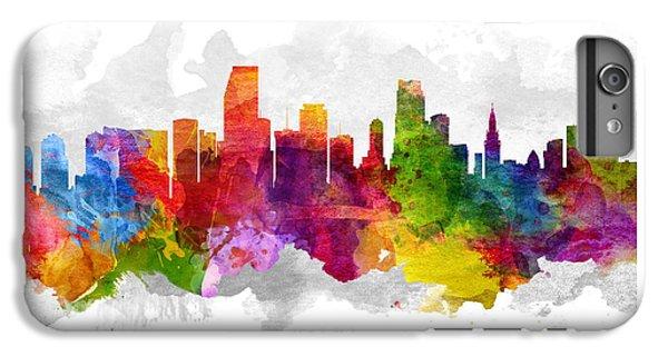 Miami Skyline iPhone 6s Plus Case - Miami Florida Cityscape 13 by Aged Pixel