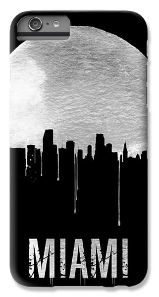 Miami Skyline Black IPhone 6s Plus Case by Naxart Studio