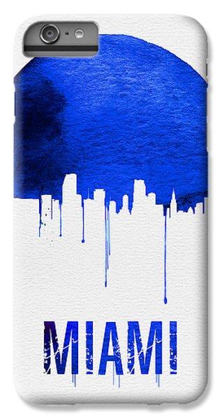 Miami Skyline iPhone 6s Plus Case - Miami Skyline Blue by Naxart Studio