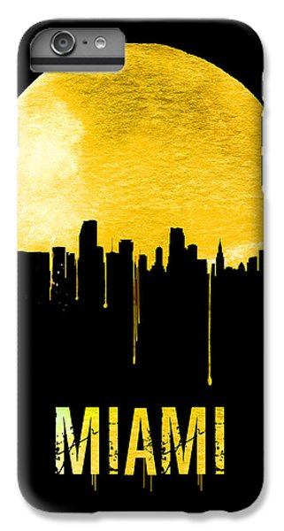 Miami Skyline iPhone 6s Plus Case - Miami Skyline Yellow by Naxart Studio