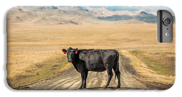 Cow iPhone 6s Plus Case - Middle Of The Road by Todd Klassy