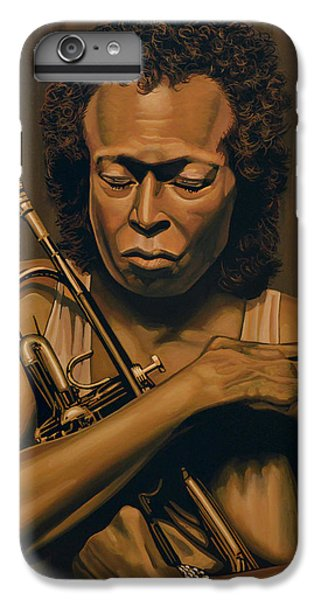 Trumpet iPhone 6s Plus Case - Miles Davis Painting by Paul Meijering