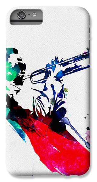 Jazz iPhone 6s Plus Case - Miles Watercolor by Naxart Studio